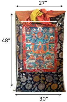 Chungpo Naljor thangka size